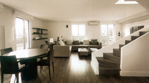 Appartement en duplex paris 16 eme architecte interieur - Architecte interieur paris petite surface ...